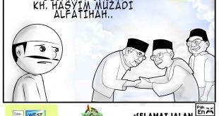 SELAMAT JALAN KH.HASYIM MUZADI (KOMIK PAK EN)